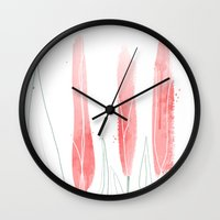 tulip Wall Clocks featuring TuliP by Ceren Aksu Dikenci