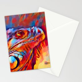 Iguana Watercolor Stationery Cards