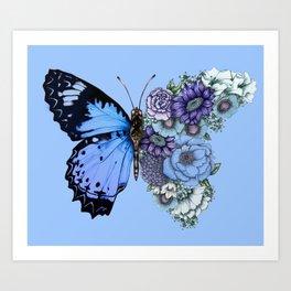Blue Butterfly in Bloom Kunstdrucke