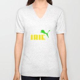 IRIE LION Unisex V-Neck