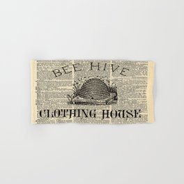western country garden farmhouse beekeeper honey bumble bee hive Hand & Bath Towel