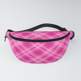 Pink Tartan Plaid With Sparkles Fanny Pack
