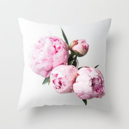 Pink Peonies 01 Throw Pillow