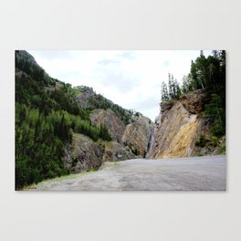 Drive Around the Curve onto a Shelf Above the Spectacular, but Frightening, Uncompahgre Gorge Canvas Print