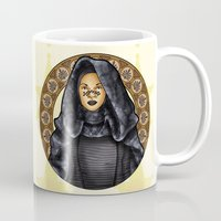 jedi Mugs featuring Barris jedi by Miguel Angel Carroza