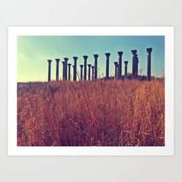 National Columns in Autumn Art Print