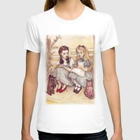 helen T-shirts featuring Dorothy and Alice by Helen Green