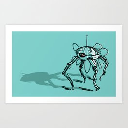 Eye Bot Art Print