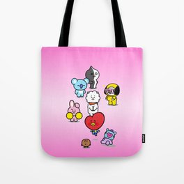BTS BT21 Characters Tote Bag