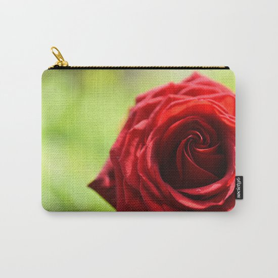 Red rose in LOVE - Roses- Valentine Carry-All Pouch