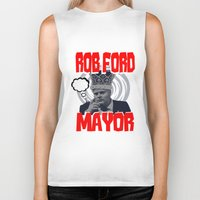 ford Biker Tanks featuring ROB FORD by JASONJAMES