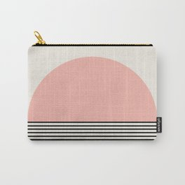 Sunrise / Sunset II - Pink & Black Carry-All Pouch