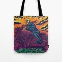 doom Tote Bags featuring DOOM RIDER by alexis ziritt