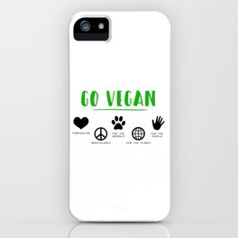 Go Vegan iPhone Case
