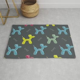 Dog balloon animal pattern Rug