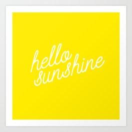 Hello Sunshine Script Art Print