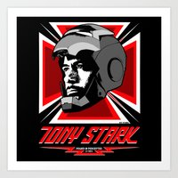 tony stark Art Prints featuring Tony Stark by Ant Atomic