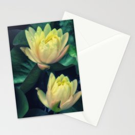 Yellow Lotus Flowers Stationery Cards