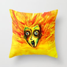 The Grazy Woman Throw Pillow