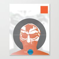 mf doom Canvas Prints featuring Vinyl Set- MF DOOM by The_Section