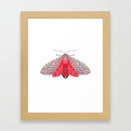 Pink Moth Framed Art Print