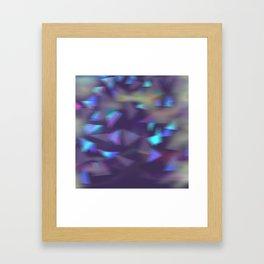 Christmas lights violet Framed Art Print