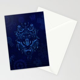 Sacred Blue Wolf Stationery Cards