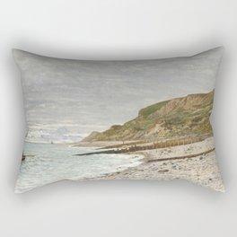 La Pointe de la Hève, Sainte-Adresse by Claude Monet Rectangular Pillow