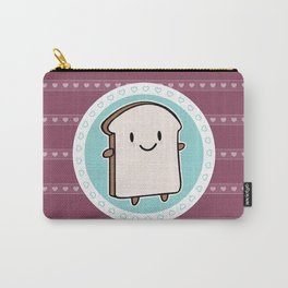 Happy Bread Slice Carry-All Pouch
