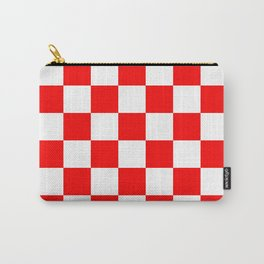 Checkered - White and Red Carry-All Pouch