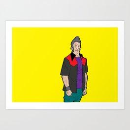 the quiff Art Print