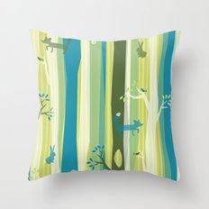 Woodland Stripe Throw Pillow