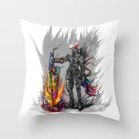 viking Throw Pillows featuring viking by ururuty