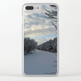 Wintery mix Clear iPhone Case