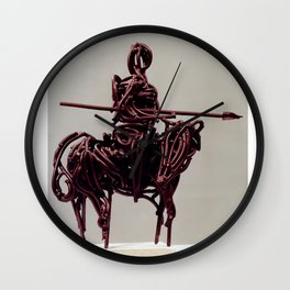 Don Quixote by Shimon Drory Wall Clock