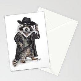 """ Raccoon Bandit "" funny western raccoon Stationery Cards"