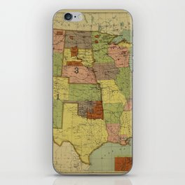 Map of Indian Reservations 1902 iPhone Skin