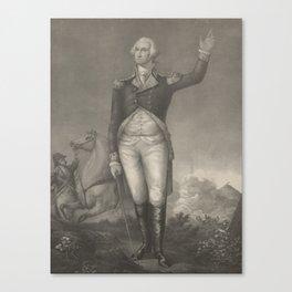 Vintage George Washington Portrait (1854) Canvas Print
