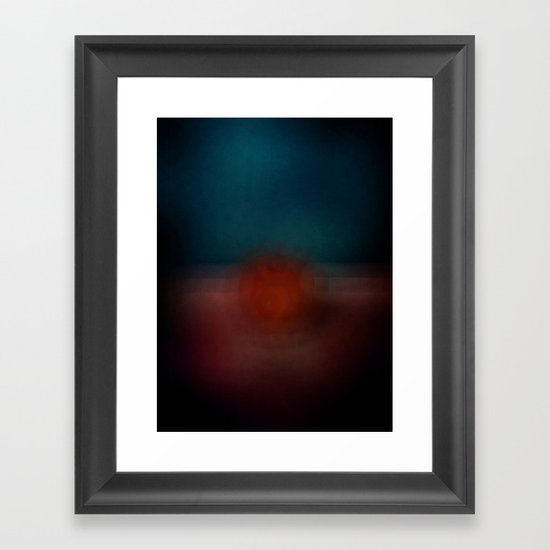 Red Apple Framed Art Print