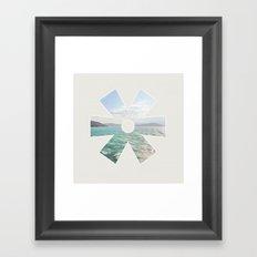 summer seas Framed Art Print