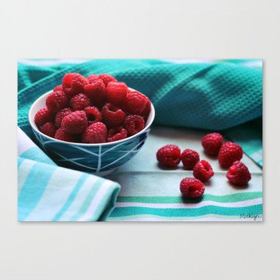 Ruby Delicious - Raspberry Still Life Canvas Print