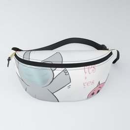 Elephant Pig Face Mask Are You Ready To Go Back To School Fanny Pack