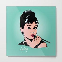 Audrey Hepburn - Tiffany - Pop Art Metal Print