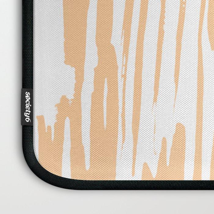 Modern Coral Stripes IV Laptop Sleeve
