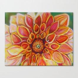I dream of Dahlias Canvas Print