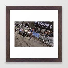 Bike race Framed Art Print