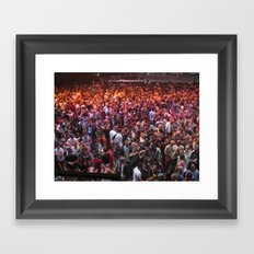 Crowds Framed Art Print