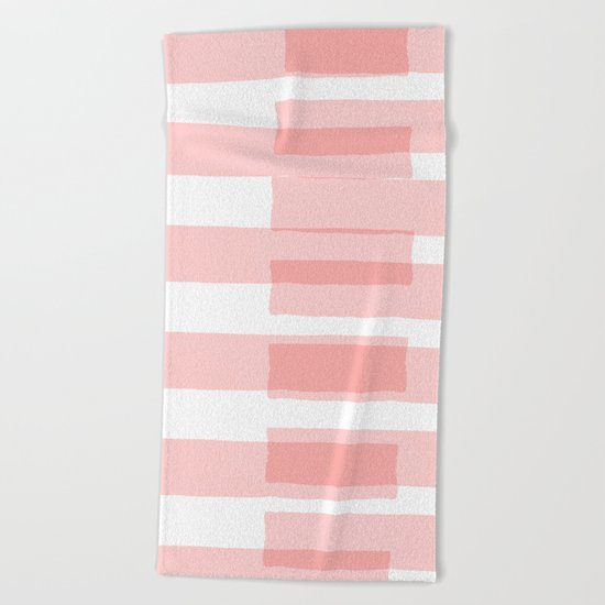 Big Stripes in Pink Beach Towel