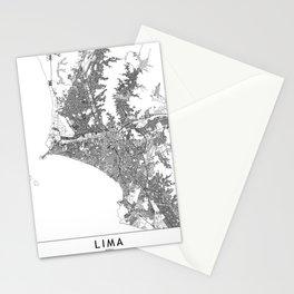 Lima White Map Stationery Cards