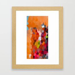 Pixelated Lanterns in Joy and Orange Framed Art Print